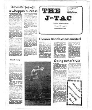 Primary view of object titled 'The J-TAC (Stephenville, Tex.), Ed. 1 Thursday, November 20, 1980'.