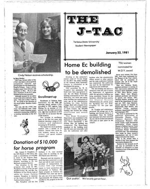 Primary view of object titled 'The J-TAC (Stephenville, Tex.), Ed. 1 Thursday, January 22, 1981'.