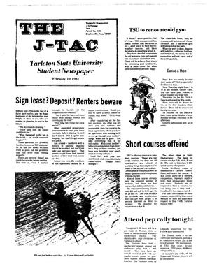Primary view of object titled 'The J-TAC (Stephenville, Tex.), Ed. 1 Thursday, February 19, 1981'.
