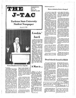 Primary view of object titled 'The J-TAC (Stephenville, Tex.), Ed. 1 Thursday, March 5, 1981'.