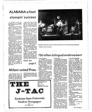 Primary view of object titled 'The J-TAC (Stephenville, Tex.), Ed. 1 Thursday, April 23, 1981'.