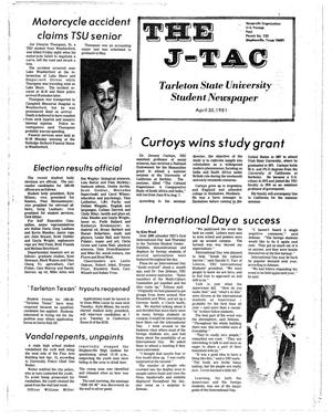 Primary view of object titled 'The J-TAC (Stephenville, Tex.), Ed. 1 Thursday, April 30, 1981'.