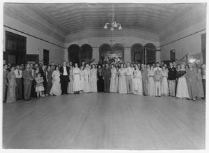 Primary view of object titled 'Centennial Pioneers Dance at Culberson County Courthouse, 1936'.