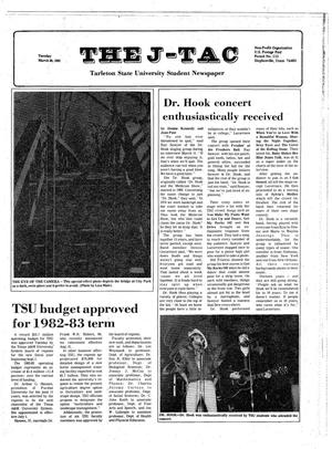 Primary view of object titled 'The J-TAC (Stephenville, Tex.), Ed. 1 Tuesday, March 30, 1982'.