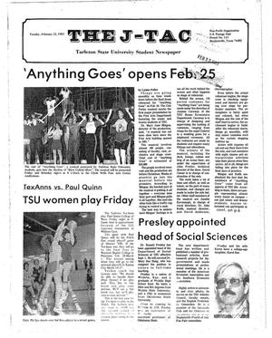 Primary view of object titled 'The J-TAC (Stephenville, Tex.), Ed. 1 Tuesday, February 22, 1983'.