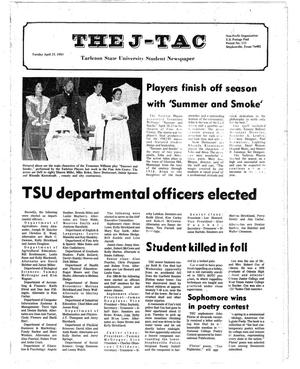 Primary view of object titled 'The J-TAC (Stephenville, Tex.), Ed. 1 Tuesday, April 26, 1983'.