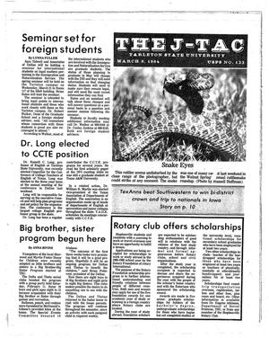 Primary view of object titled 'The J-TAC (Stephenville, Tex.), Ed. 1 Thursday, March 8, 1984'.