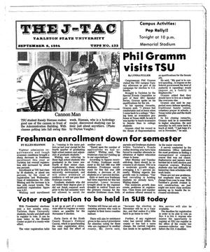 Primary view of object titled 'The J-TAC (Stephenville, Tex.), Ed. 1 Thursday, September 6, 1984'.
