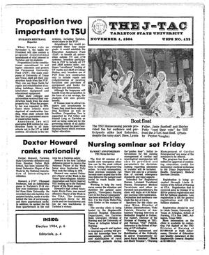 Primary view of object titled 'The J-TAC (Stephenville, Tex.), Ed. 1 Thursday, November 1, 1984'.