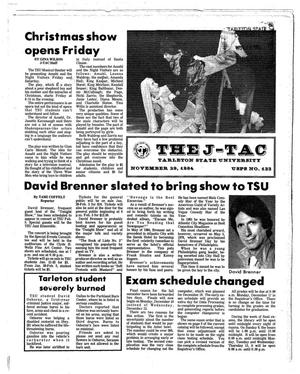 Primary view of object titled 'The J-TAC (Stephenville, Tex.), Ed. 1 Thursday, November 29, 1984'.