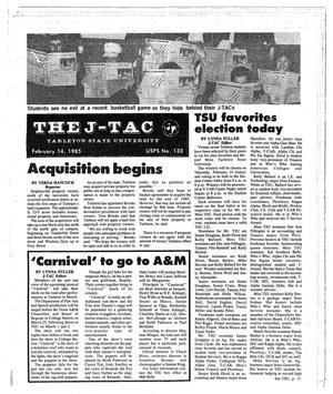 Primary view of object titled 'The J-TAC (Stephenville, Tex.), Ed. 1 Thursday, February 14, 1985'.