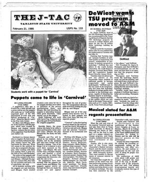 Primary view of object titled 'The J-TAC (Stephenville, Tex.), Ed. 1 Thursday, February 21, 1985'.