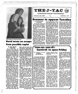 Primary view of object titled 'The J-TAC (Stephenville, Tex.), Ed. 1 Thursday, February 28, 1985'.
