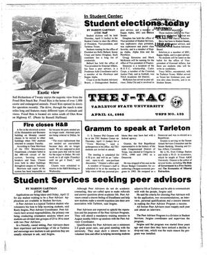 Primary view of object titled 'The J-TAC (Stephenville, Tex.), Ed. 1 Thursday, April 11, 1985'.