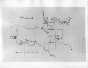 Primary view of object titled '[Plat map of East Fort Bend County, 1837-1845.]'.