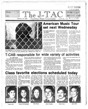 Primary view of object titled 'The J-TAC (Stephenville, Tex.), Ed. 1 Thursday, February 13, 1986'.
