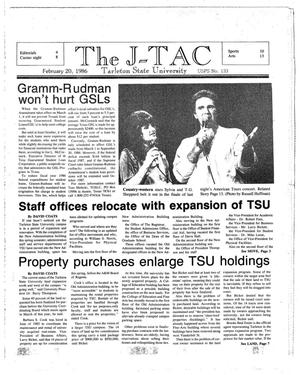 Primary view of object titled 'The J-TAC (Stephenville, Tex.), Ed. 1 Thursday, February 20, 1986'.