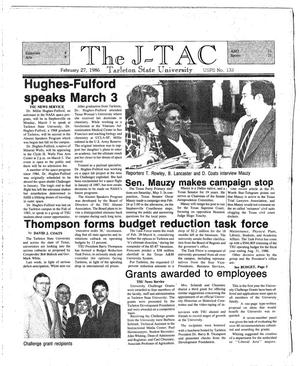 Primary view of object titled 'The J-TAC (Stephenville, Tex.), Ed. 1 Thursday, February 27, 1986'.