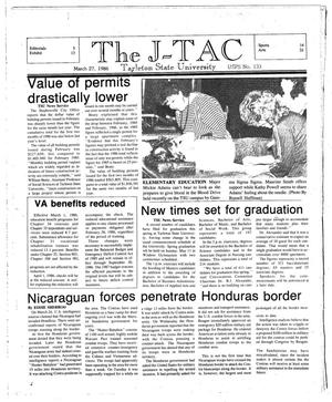 The J-TAC (Stephenville, Tex.), Ed. 1 Thursday, March 27, 1986