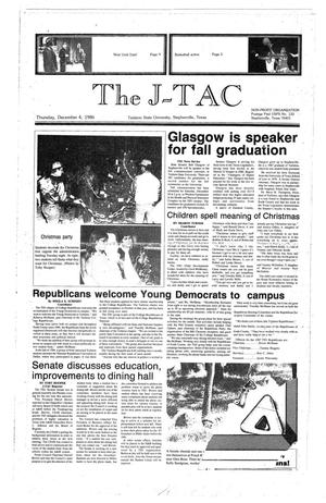 Primary view of The J-TAC (Stephenville, Tex.), Ed. 1 Thursday, December 4, 1986