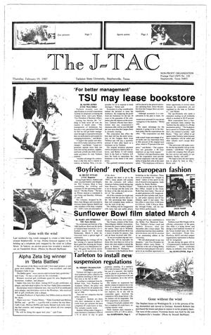 Primary view of The J-TAC (Stephenville, Tex.), Ed. 1 Thursday, February 19, 1987