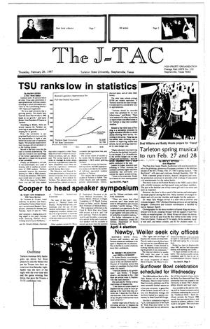 The J-TAC (Stephenville, Tex.), Ed. 1 Thursday, February 26, 1987