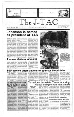 Primary view of object titled 'The J-TAC (Stephenville, Tex.), Ed. 1 Thursday, March 26, 1987'.