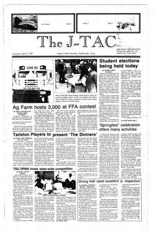 Primary view of object titled 'The J-TAC (Stephenville, Tex.), Ed. 1 Thursday, April 2, 1987'.