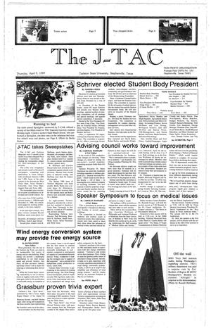 Primary view of object titled 'The J-TAC (Stephenville, Tex.), Ed. 1 Thursday, April 9, 1987'.