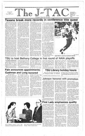 Primary view of The J-TAC (Stephenville, Tex.), Ed. 1 Thursday, November 19, 1987