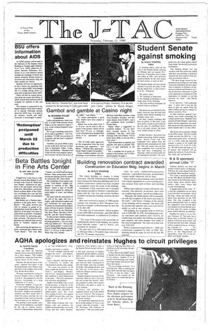 Primary view of The J-TAC (Stephenville, Tex.), Ed. 1 Thursday, February 11, 1988