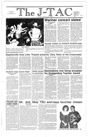 Primary view of The J-TAC (Stephenville, Tex.), Ed. 1 Thursday, February 18, 1988