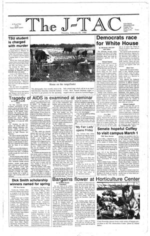 Primary view of The J-TAC (Stephenville, Tex.), Ed. 1 Thursday, February 25, 1988