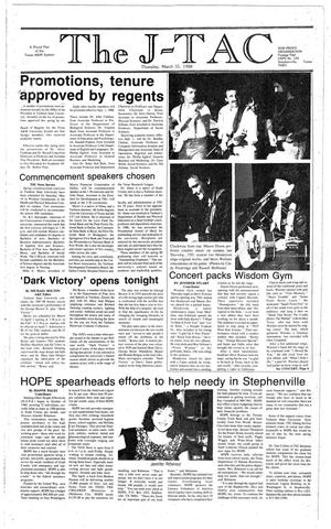 The J-TAC (Stephenville, Tex.), Ed. 1 Thursday, March 31, 1988