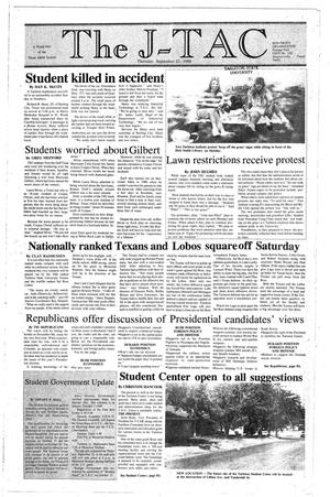 Primary view of object titled 'The J-TAC (Stephenville, Tex.), Ed. 1 Thursday, September 22, 1988'.