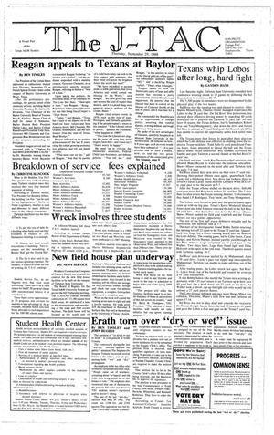 Primary view of The J-TAC (Stephenville, Tex.), Ed. 1 Thursday, September 29, 1988