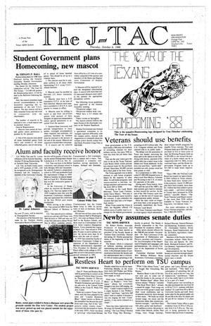 Primary view of The J-TAC (Stephenville, Tex.), Ed. 1 Thursday, October 6, 1988