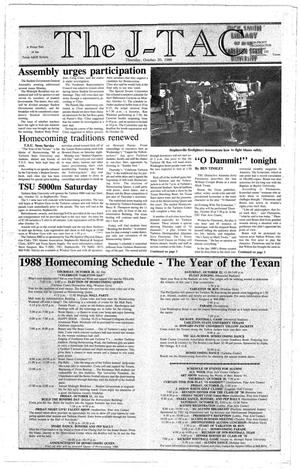 Primary view of object titled 'The J-TAC (Stephenville, Tex.), Ed. 1 Thursday, October 20, 1988'.