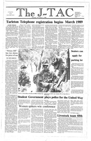 Primary view of The J-TAC (Stephenville, Tex.), Ed. 1 Thursday, November 3, 1988