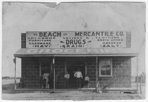 Primary view of object titled 'Beach Mercantile Co., c. 1898'.