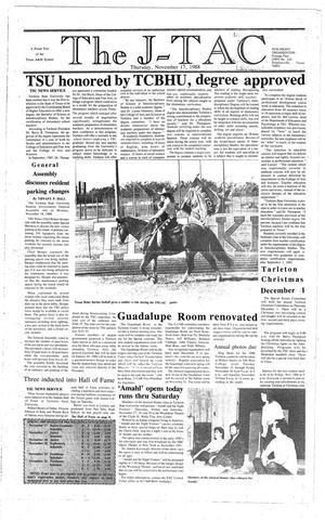 Primary view of The J-TAC (Stephenville, Tex.), Ed. 1 Thursday, November 17, 1988