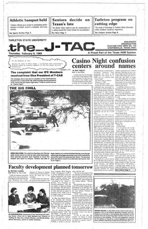 Primary view of object titled 'The J-TAC (Stephenville, Tex.), Ed. 1 Thursday, February 9, 1989'.