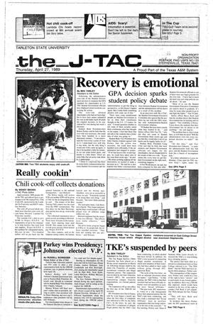 Primary view of object titled 'The J-TAC (Stephenville, Tex.), Ed. 1 Thursday, April 27, 1989'.