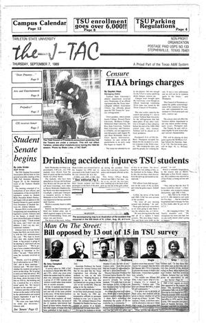 Primary view of object titled 'The J-TAC (Stephenville, Tex.), Ed. 1 Thursday, September 7, 1989'.