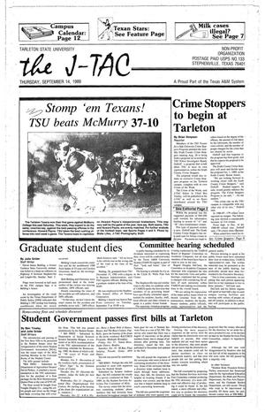 The J-TAC (Stephenville, Tex.), Ed. 1 Thursday, September 14, 1989