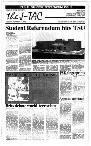 Primary view of object titled 'The J-TAC (Stephenville, Tex.), Ed. 1 Tuesday, November 14, 1989'.