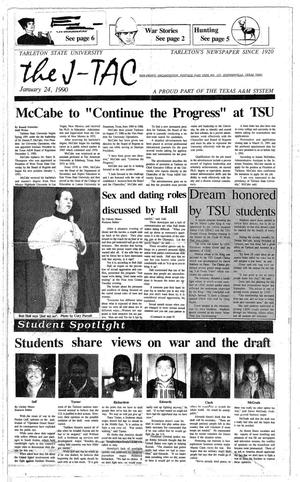 Primary view of object titled 'The J-TAC (Stephenville, Tex.), Ed. 1 Thursday, January 25, 1990'.