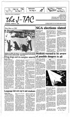Primary view of object titled 'The J-TAC (Stephenville, Tex.), Ed. 1 Thursday, March 8, 1990'.