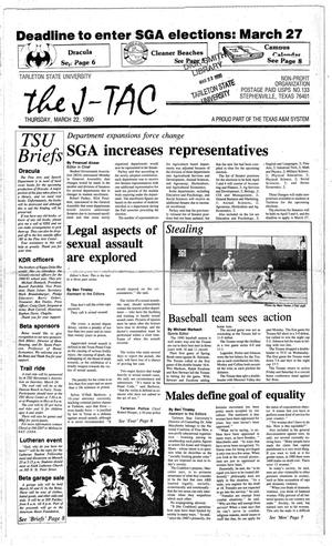 Primary view of object titled 'The J-TAC (Stephenville, Tex.), Ed. 1 Thursday, March 22, 1990'.