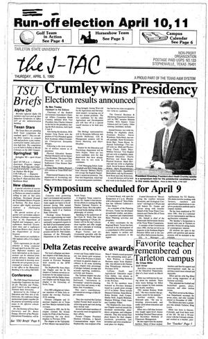 The J-TAC (Stephenville, Tex.), Ed. 1 Thursday, April 5, 1990